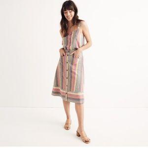 Madewell Rainbow Stripe Midi Skirt